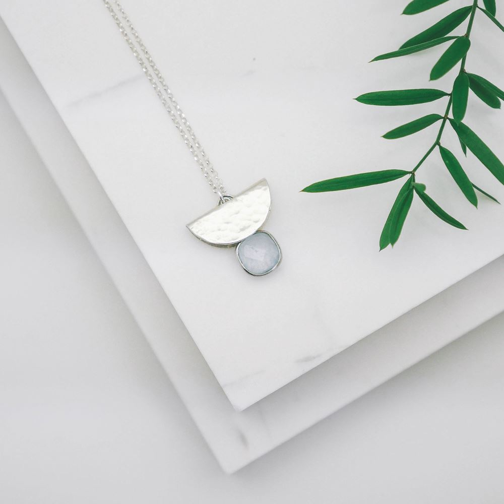 Necklace Nala blue (silver 925)