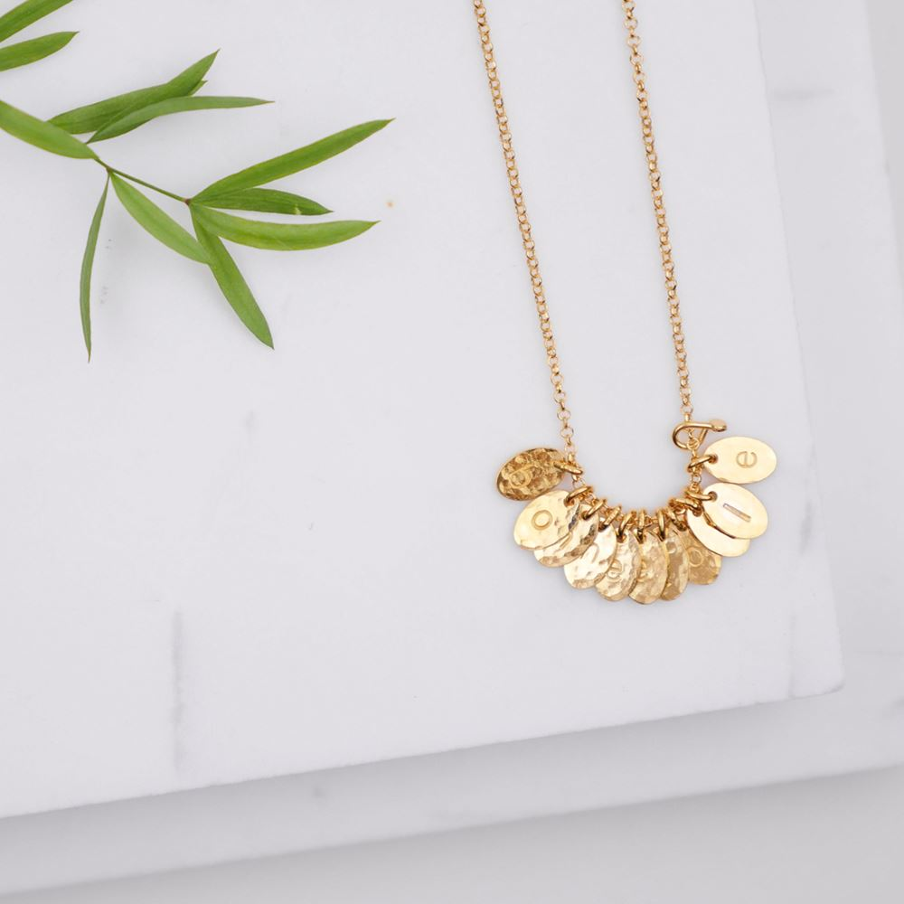 "Necklace ""Secret words"" made to measure (gold plated)"