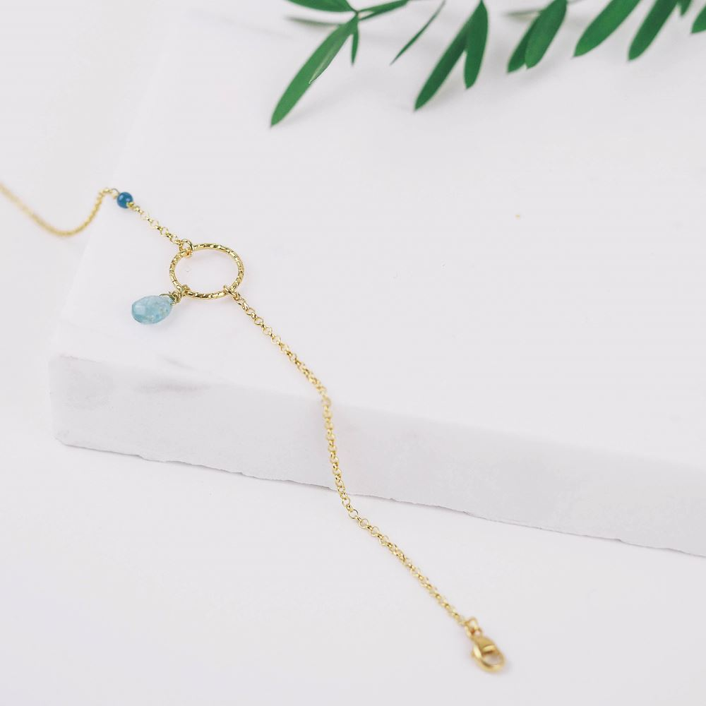 Bracelet Isée turquoise (gold plated)