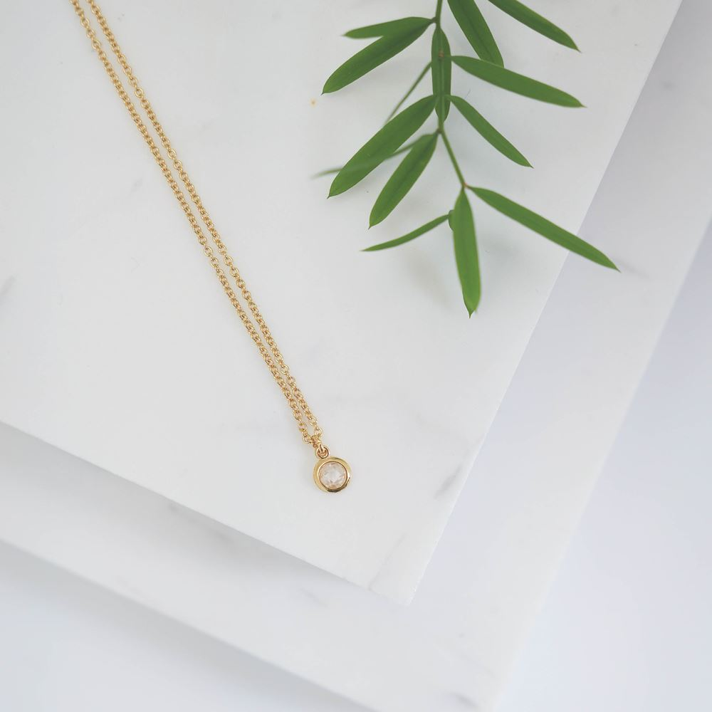 Short necklace Chloé (gold plated)