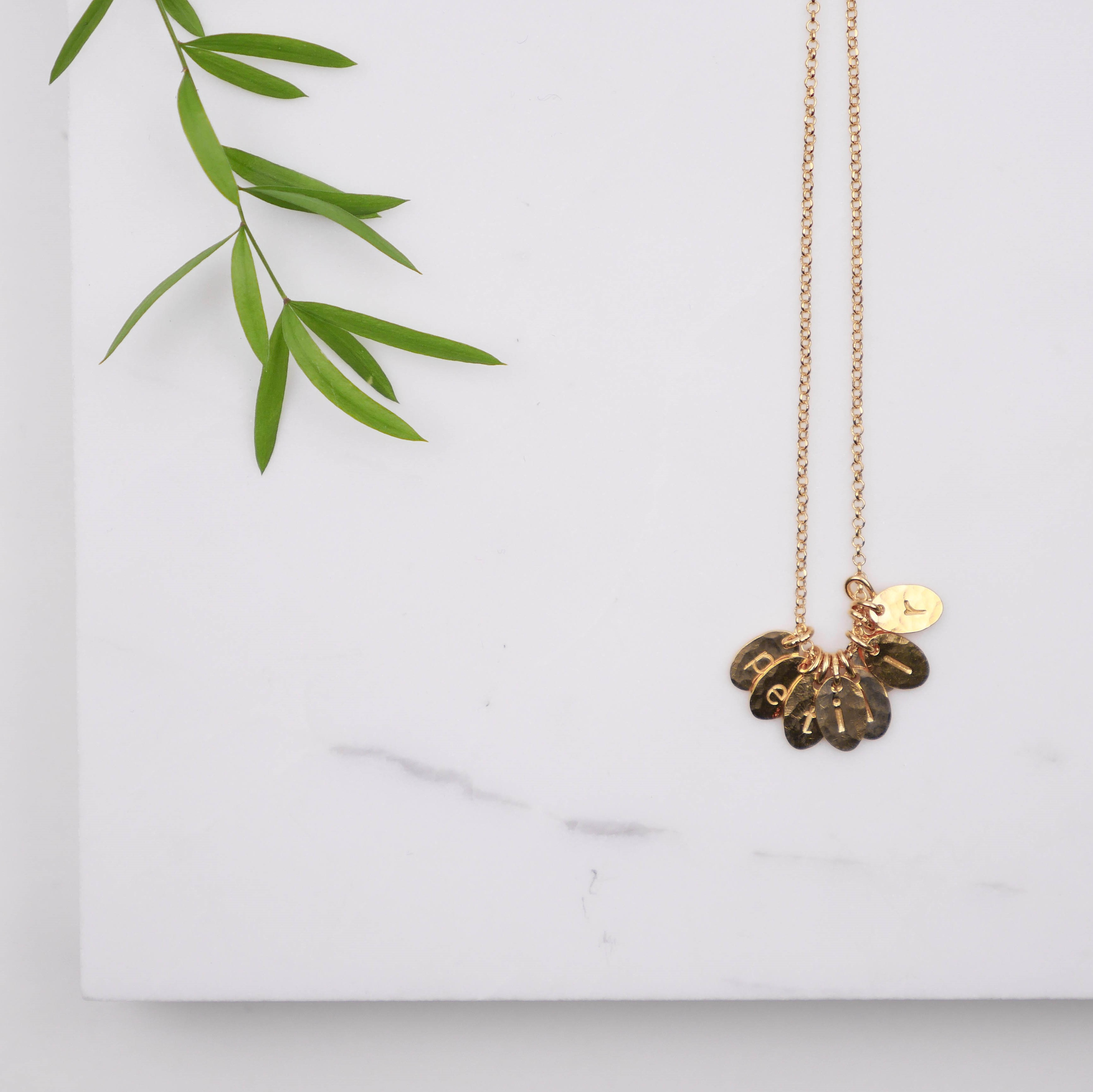 "Necklace ""Secret words"" (gold plated)"
