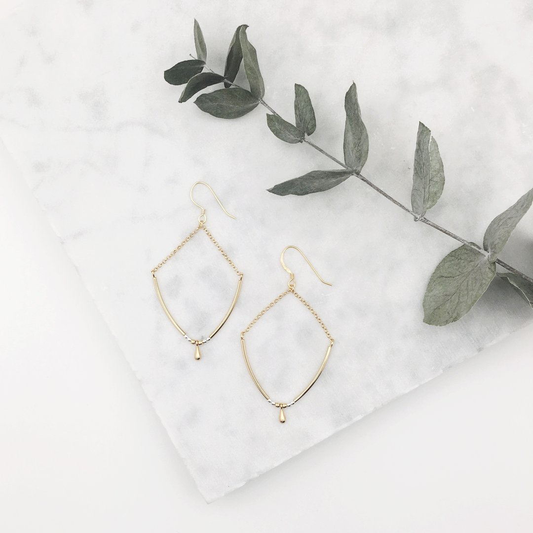 Earrings Selah (gold plated)