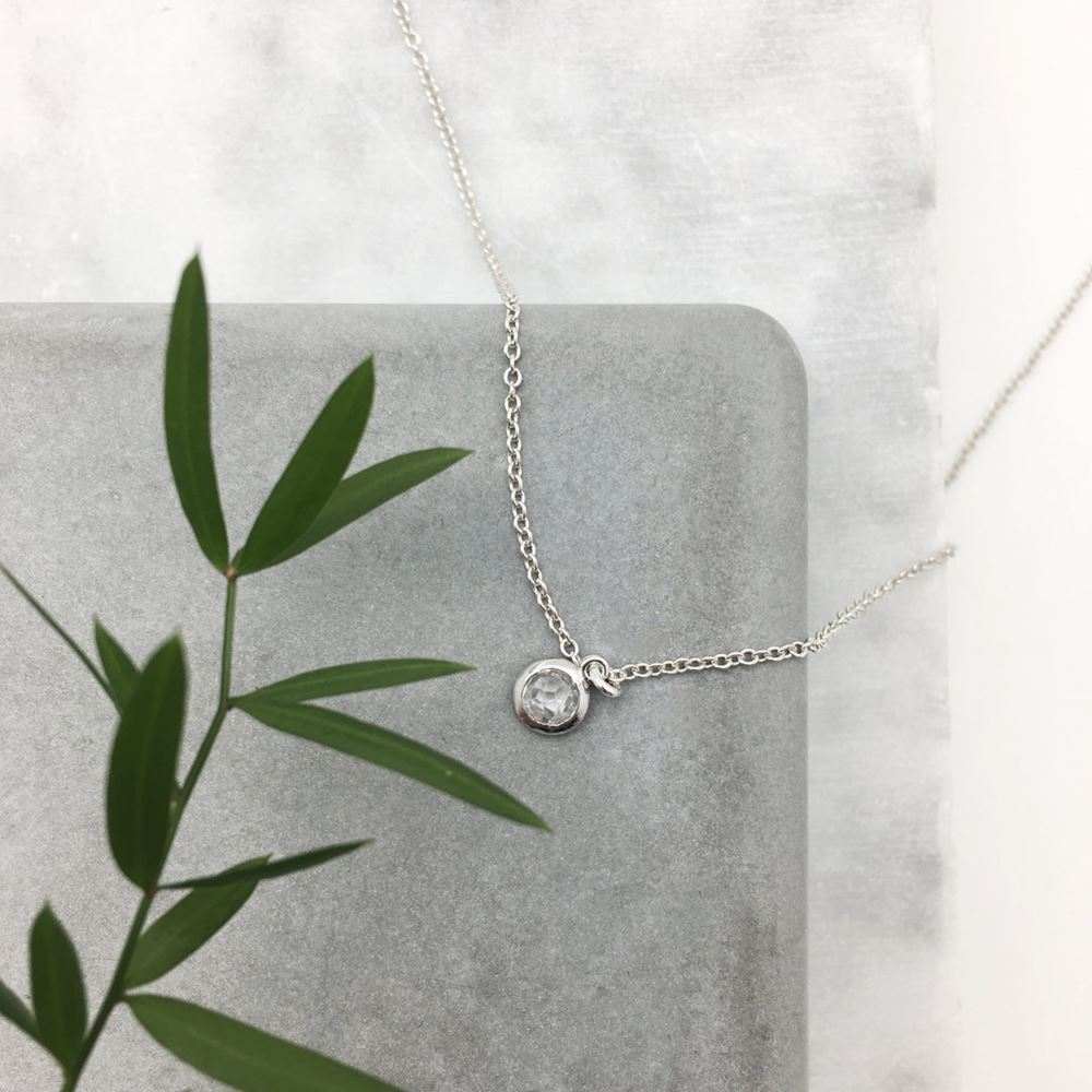 Short necklace Chloé (silver 925)