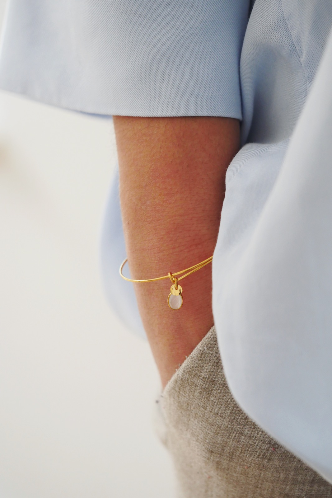 Bracelet Elsa gold plated (moonstone)