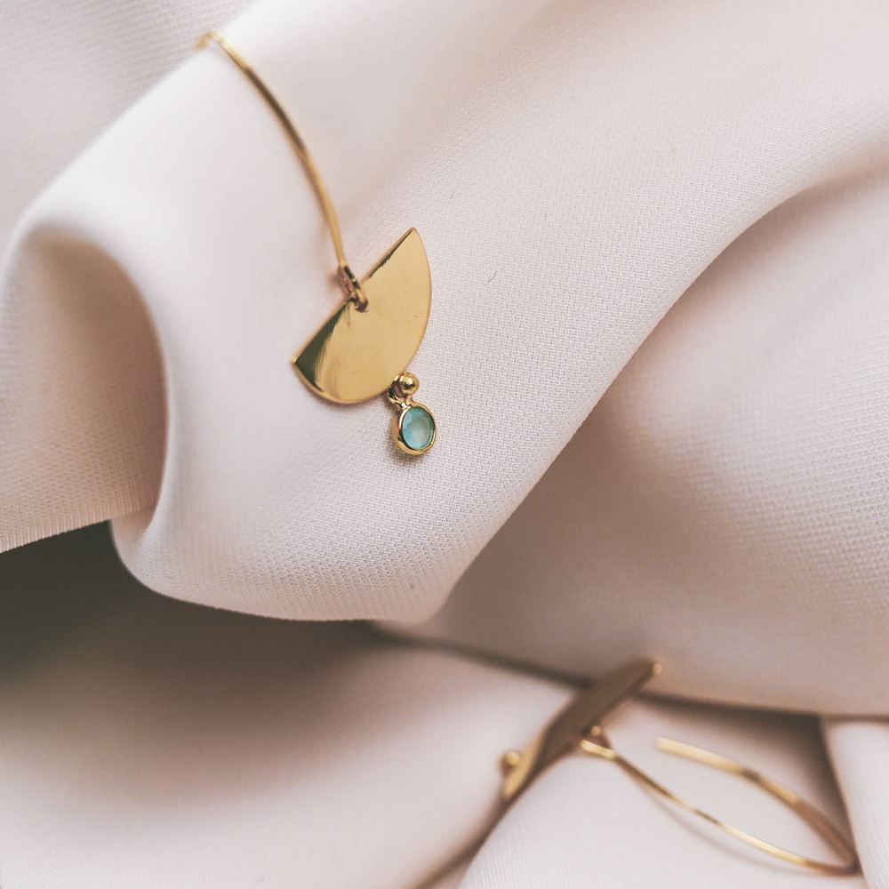Earrings Léonie gold plated (turquoise)