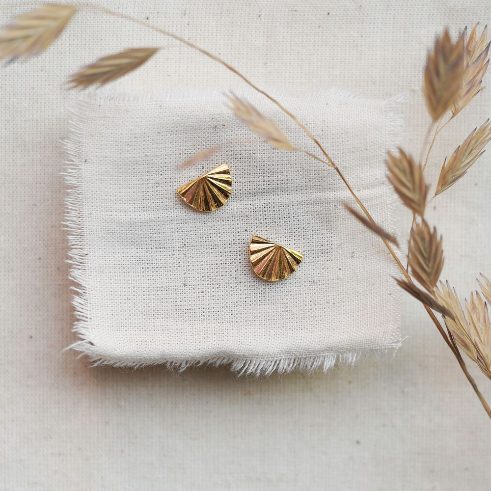 Earrings Céleste (gold plated)