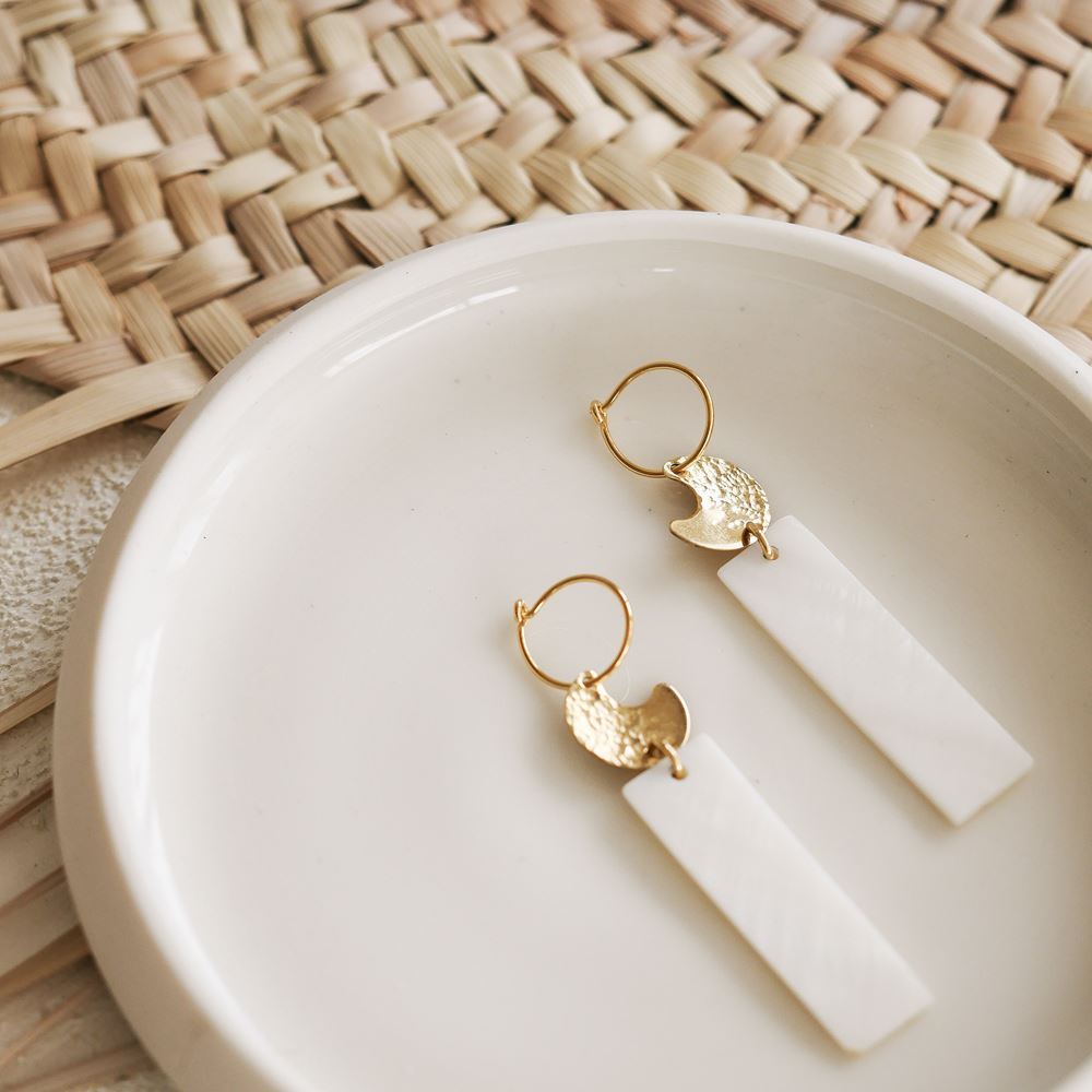 Earrings Iseult (gold plated)