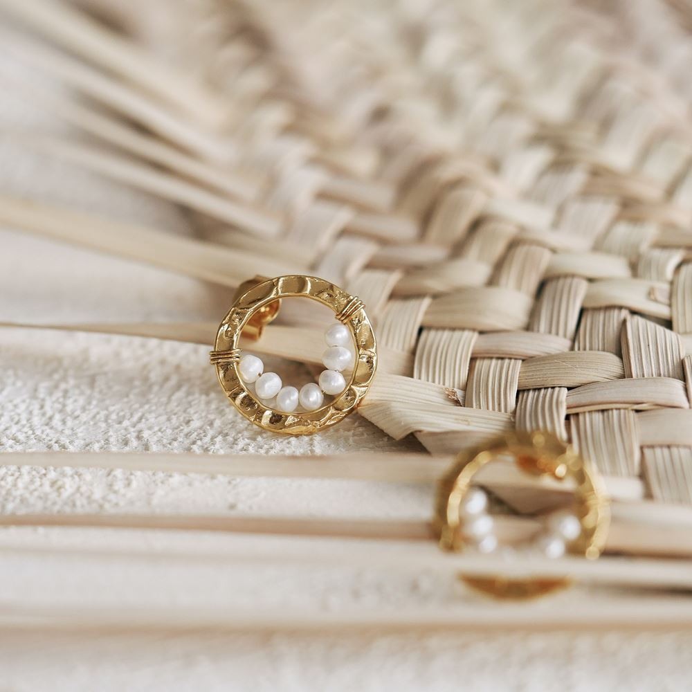 Earrings Lise (gold plated)