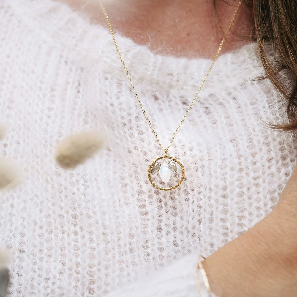 Necklace Aura - Balance (gold plated)